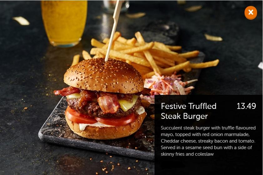 Festive Truffled Steak Burger