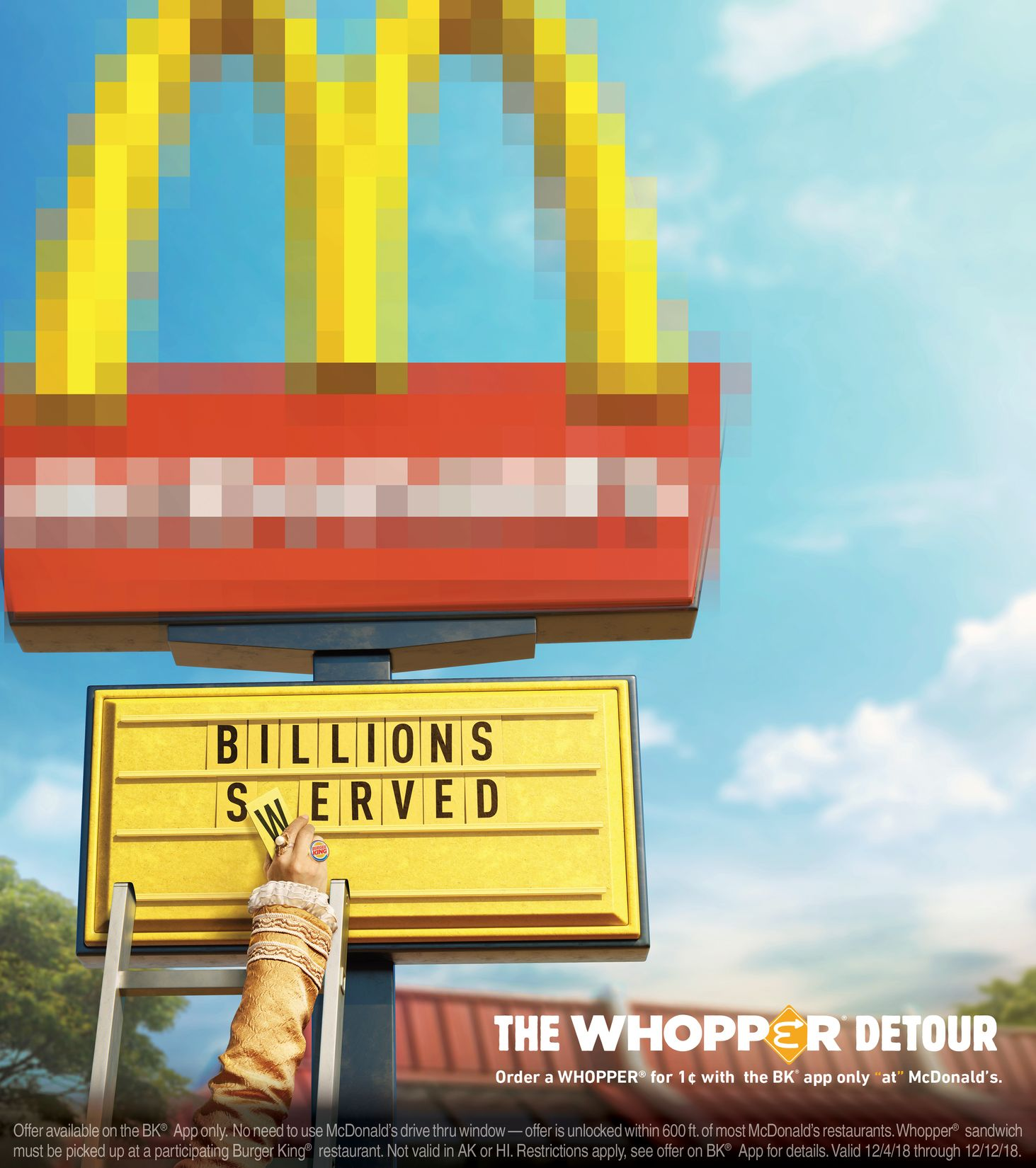 Burger King Whopper Detour - 1¢ Whopper