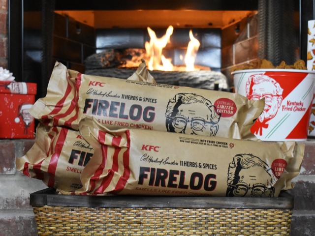 KFC Festive Firelog