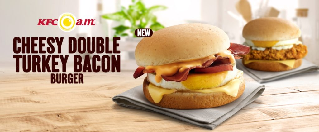 KFC Singapore - Cheesy Double Turkey Bacon Burger