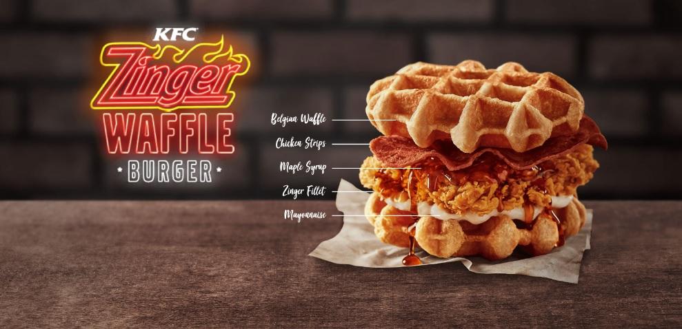 Zinger Waffle Burger