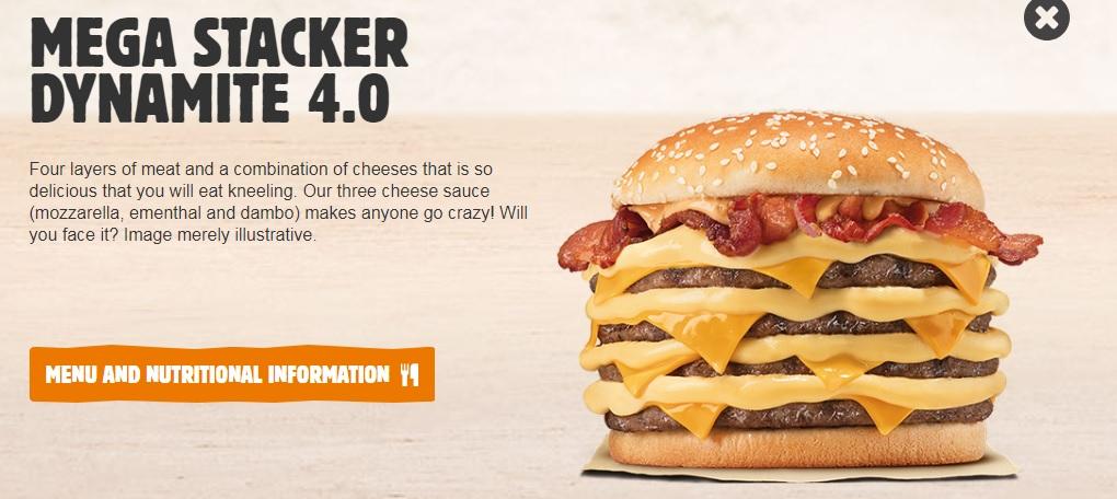 Burger King Brazil Mega Stacker Dynamite 4.0