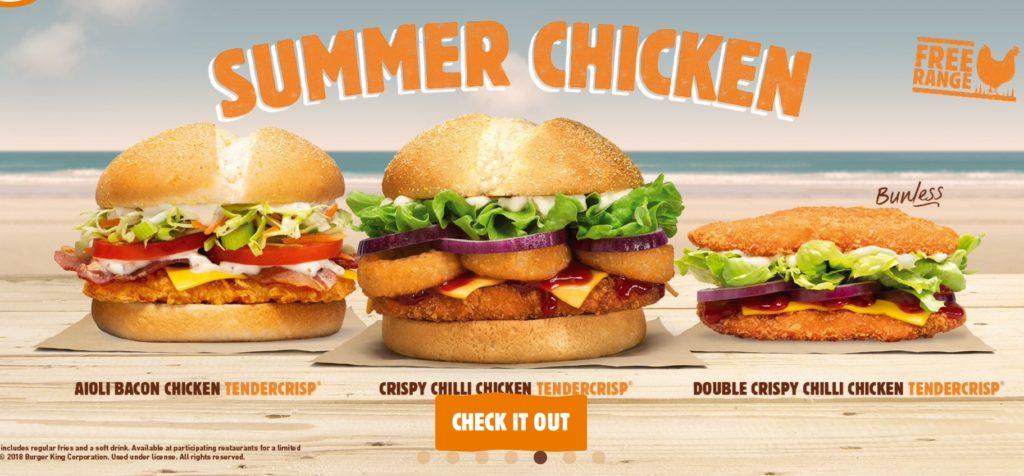 Burger King Summer Chicken