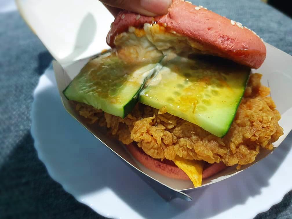 KFC Ghost Pepper Zinger Burger