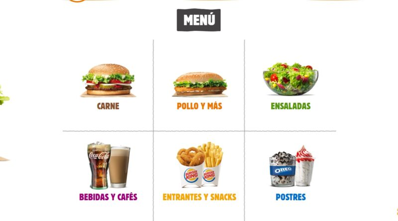 Burger King Spain Menu Prices