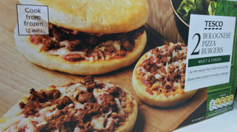 Tesco Bolognese Pizza Burgers Price Review Calories