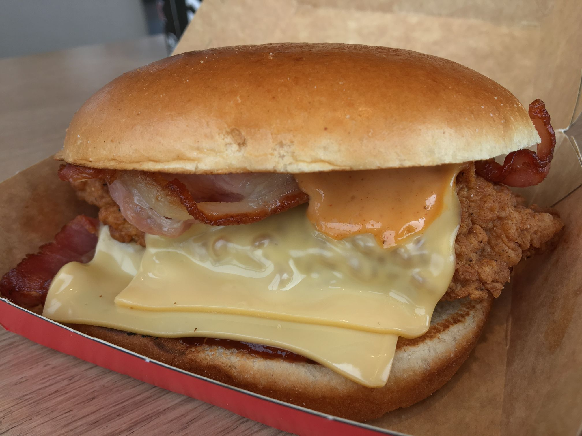 KFC I Love You Bacon Burger