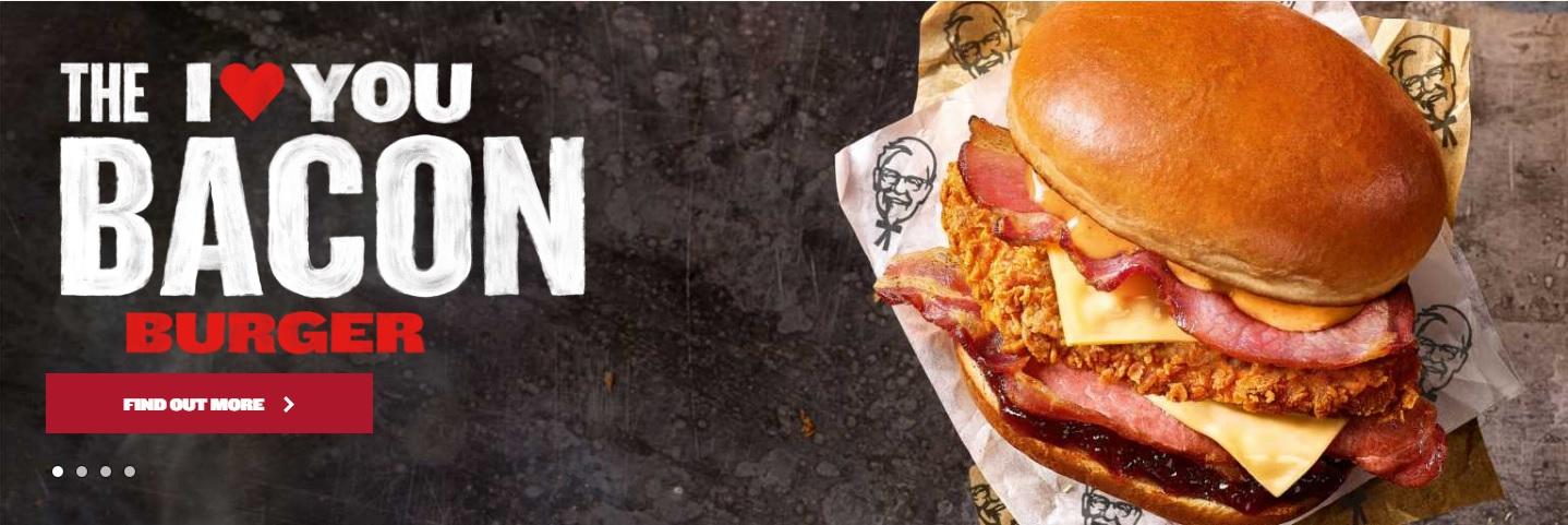 I Love You Bacon Burger