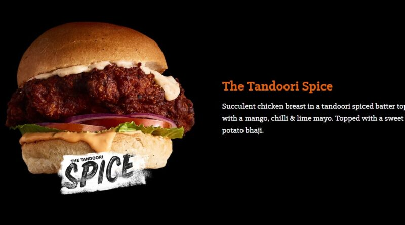 Beefeater Tandoori Spice Burger