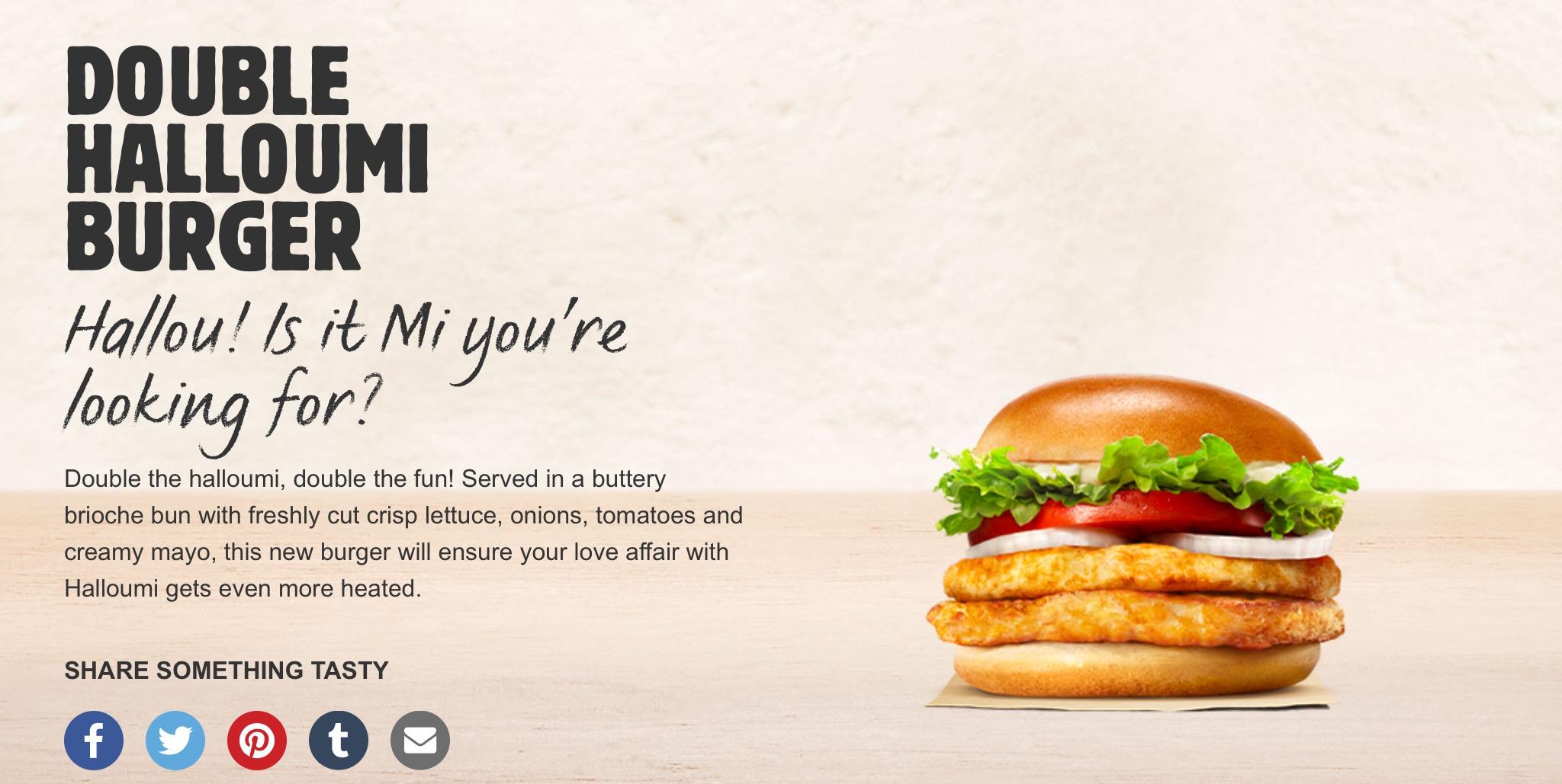Double Halloumi Burger