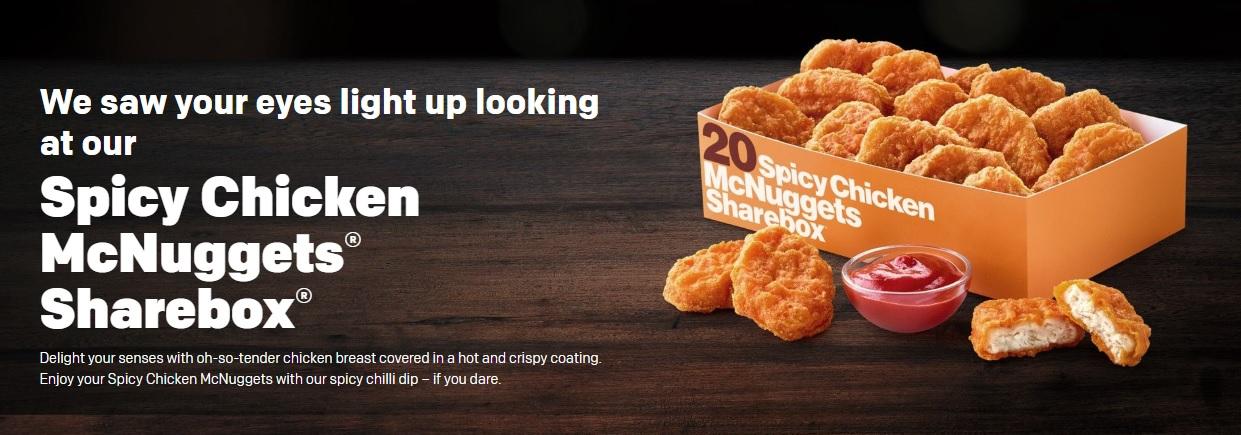 Spicy Chicken McNuggets Sharebox