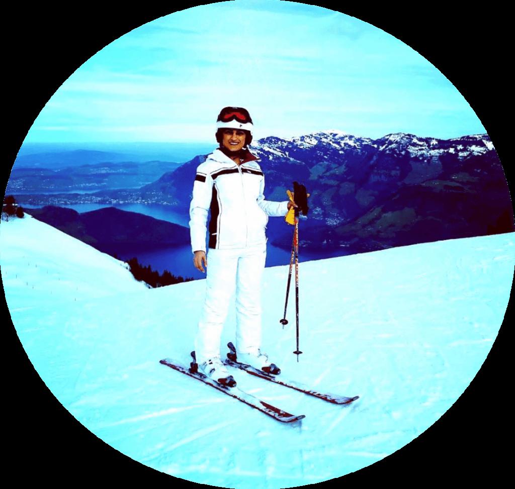 Woman Klewenalp Lake Luzern Swiss Pilatus Rigi Ski Lessons