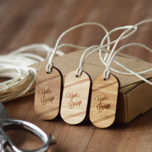 oval wooden swing tags