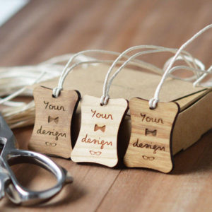round corner custom wooden swing tags