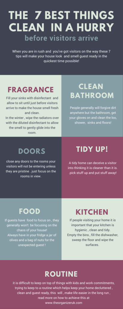 how to quick clean your house