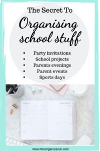 organising paperwork