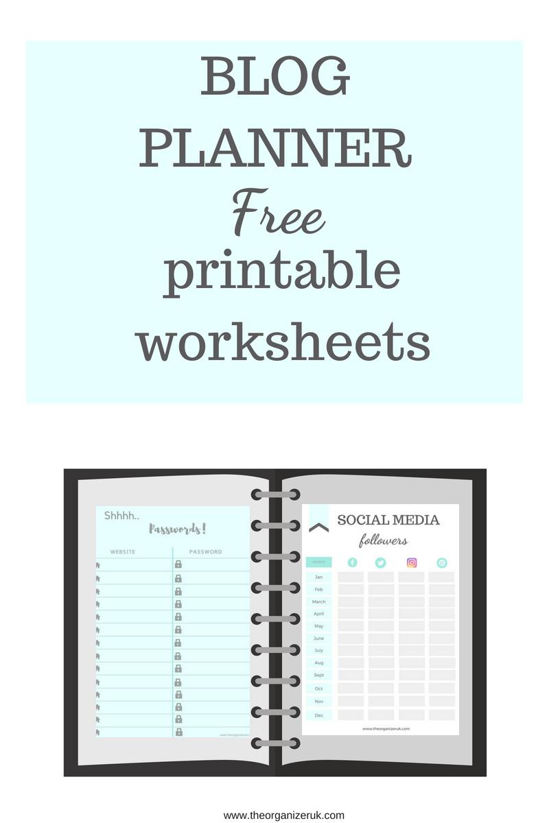 blog planner templates