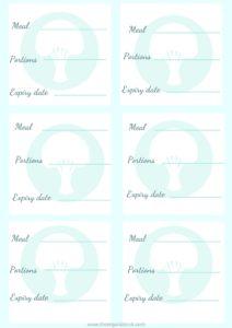 free vegetarian freezer labels , batch cooking for beginners, freezer meals