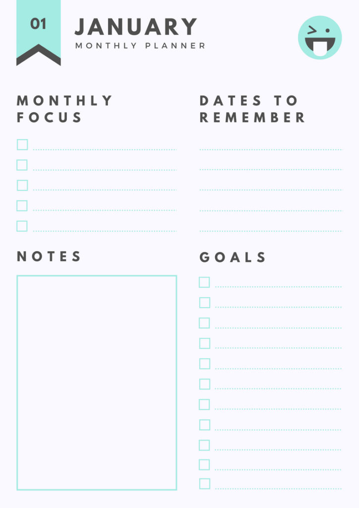 Printable Monthly Planner ,free printables planner, Printable Daily Planner
