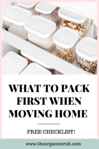 What to pack first when moving home
