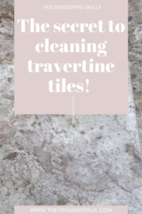 clean travertine tiles