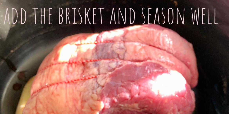 beef brisket in the slow cooker