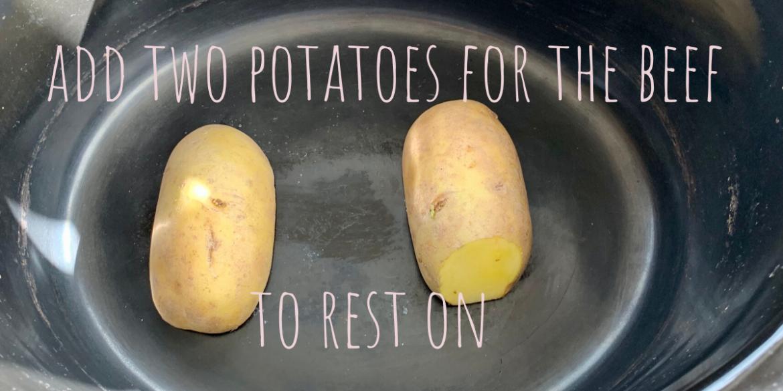 slow cooker potatoes for beef brisket