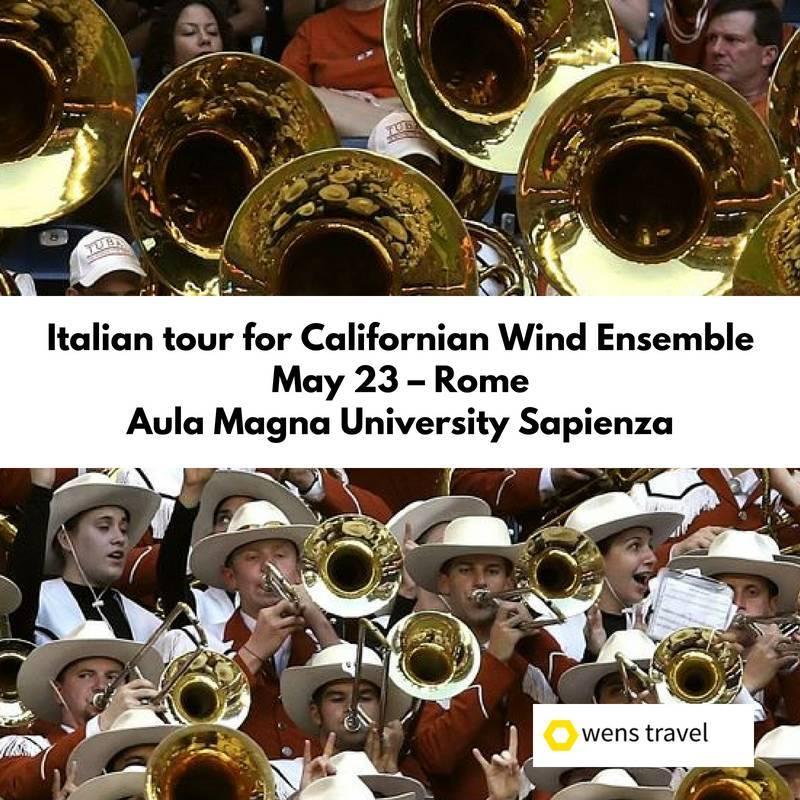 Italian tour for Californian Wind Ensemble University of California, Berkeley 6