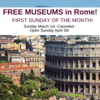 Copy of 600x600 Free museums in Rome Italy 2020 things to do in Rome for free