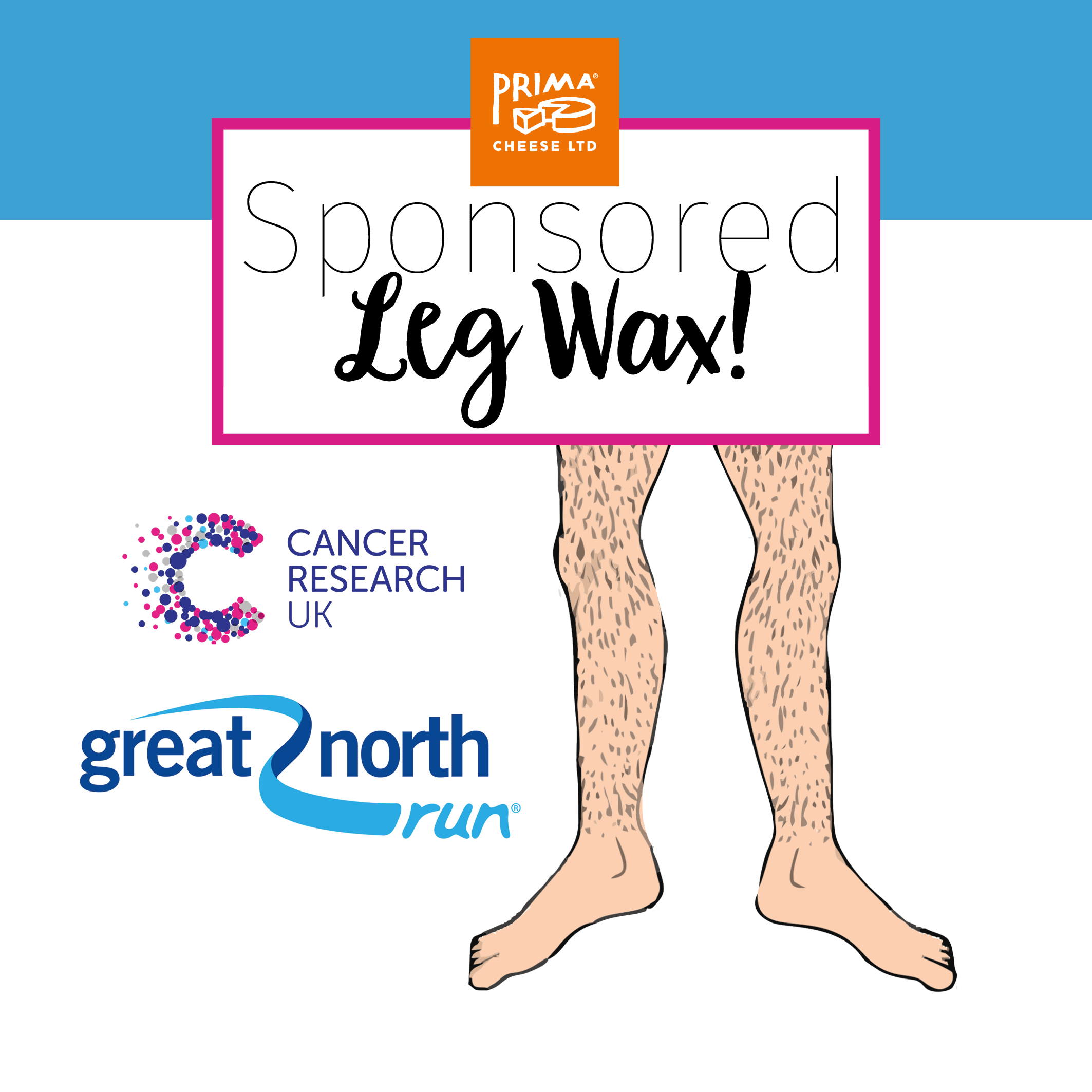 Sponsored Leg Wax for Cancer Research!