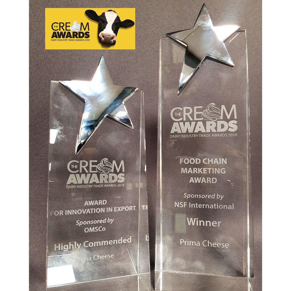 Prima Wins 2 Awards at The Cream Awards