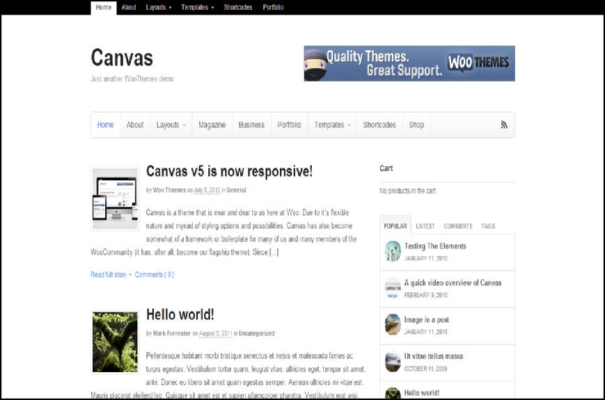 canvas 2012 wordpress premium theme