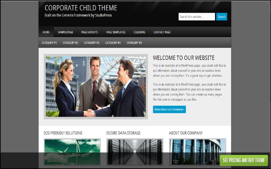 corporate business wordpress themes