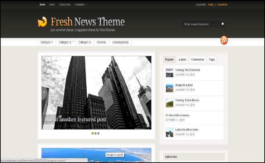 fresh news wp theme