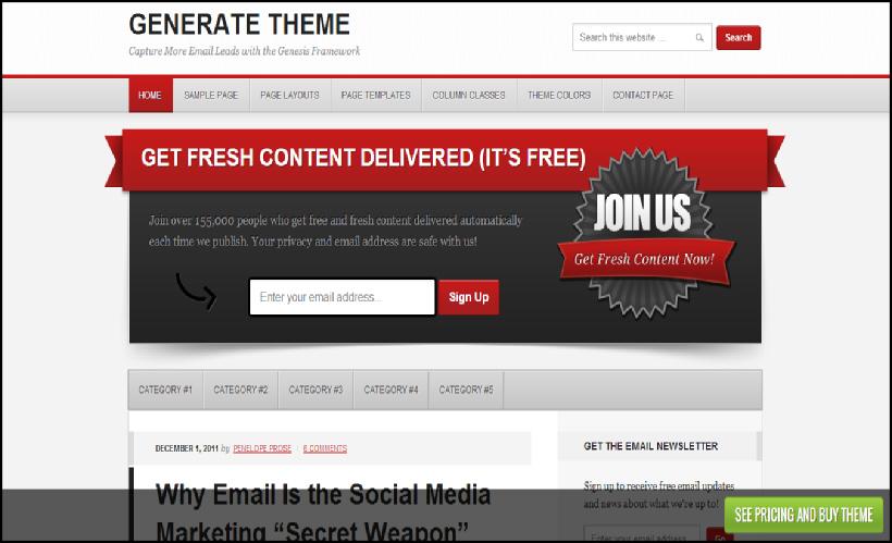 generate wordpress premium niche theme