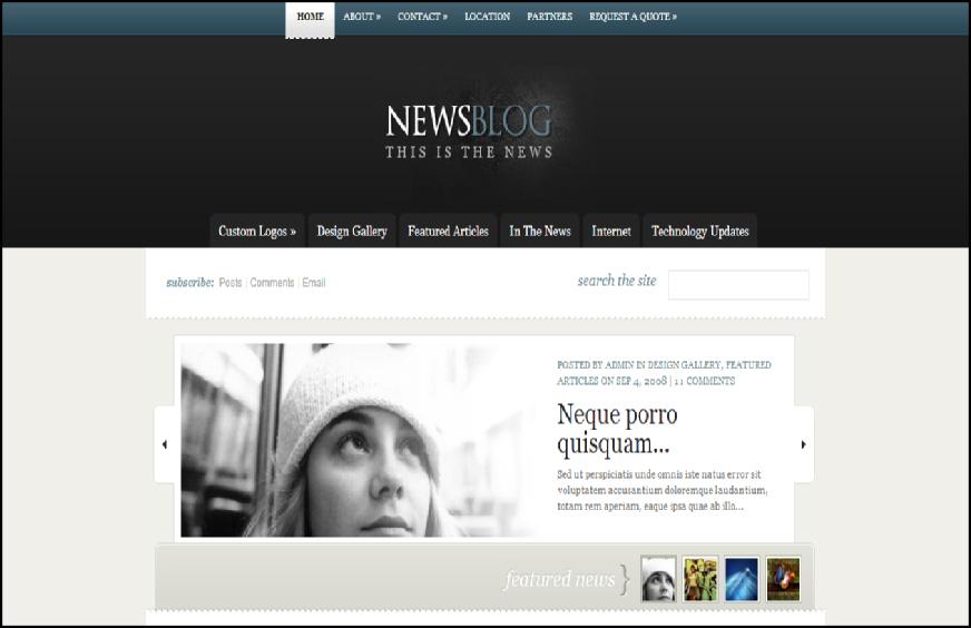 news blog theme