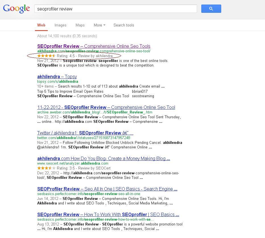 wordpress on page optimization-Rich Snippets