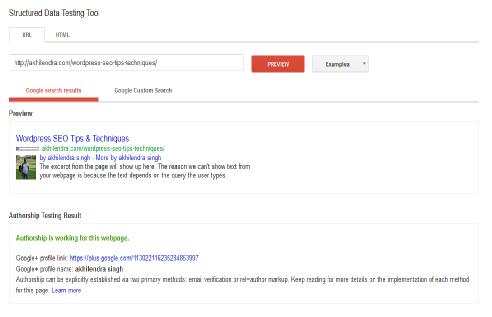 Googe+ Authorship - webmaster tool