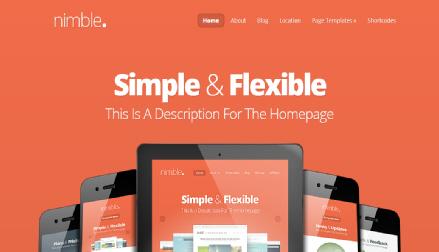 nimble wordpress ecommerce theme