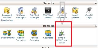simple DNS zone editor in cpanel
