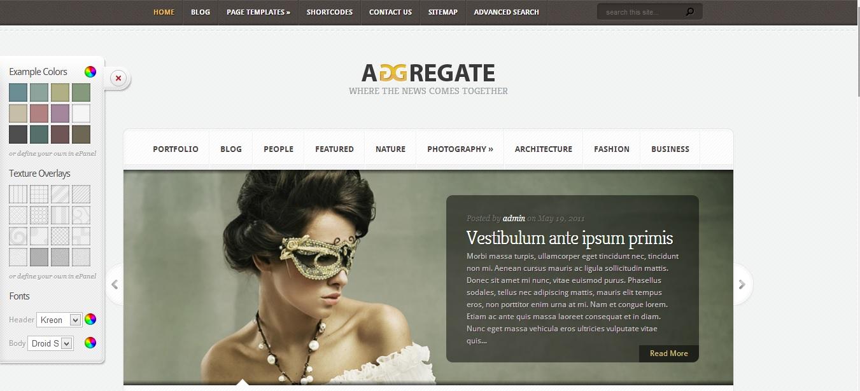 aggregate magazine styled elegant theme