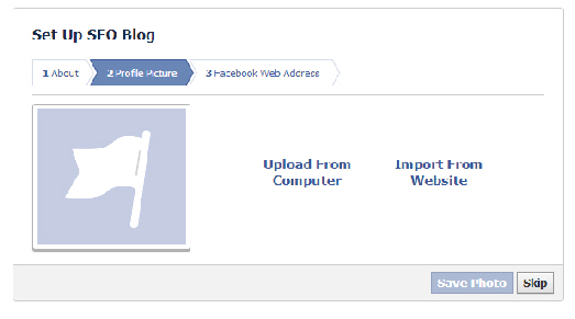 upload image in facebook page