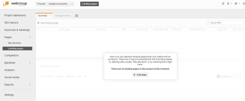 webmeup optimize landing page