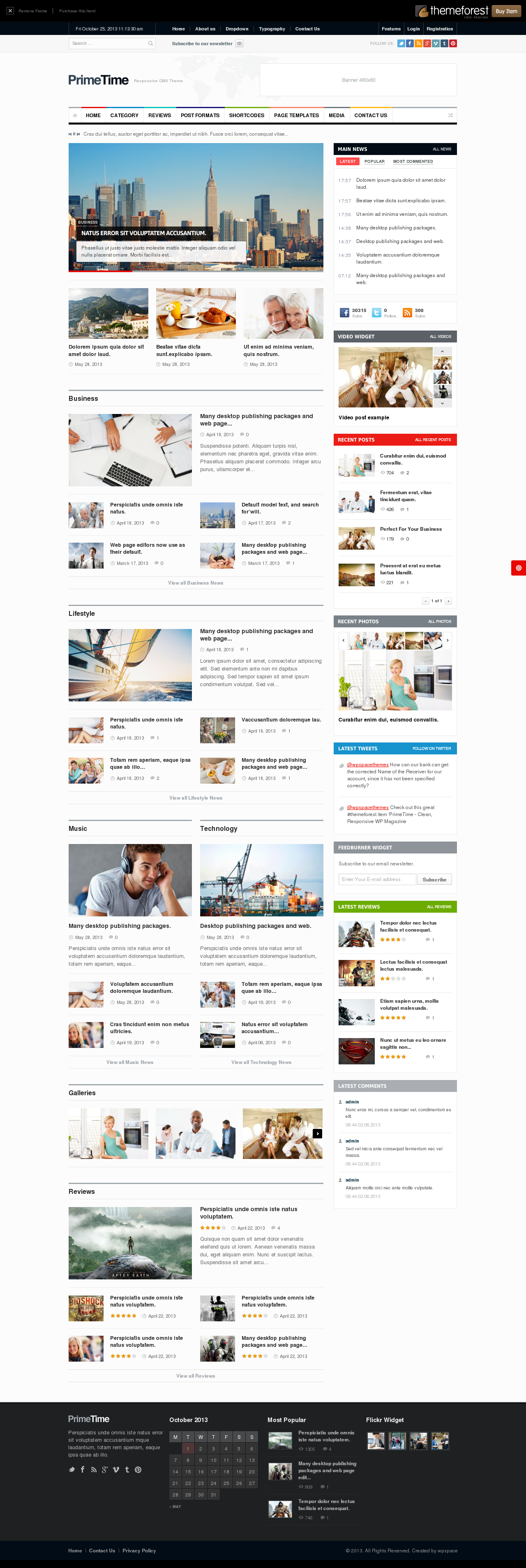 Clean Magazin & Blog HTML5 Template