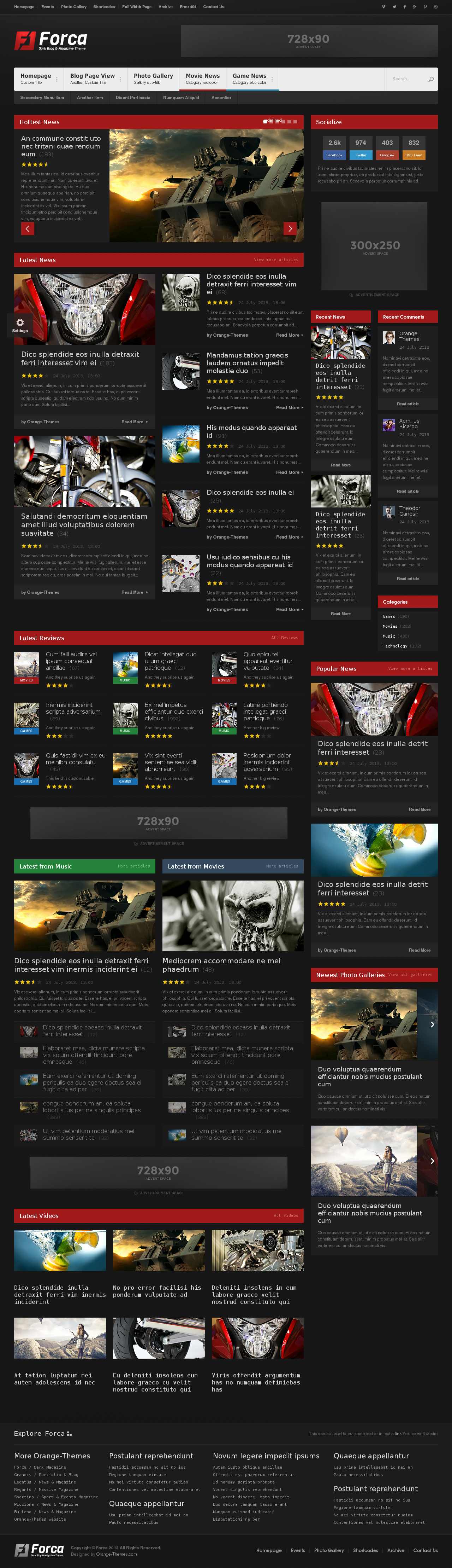 Forca - Responsive News-Magazine HTML Template