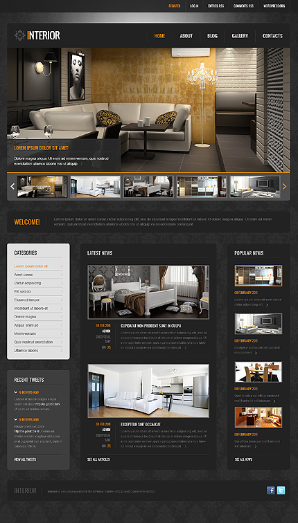 Interior Decoration Blog Themes