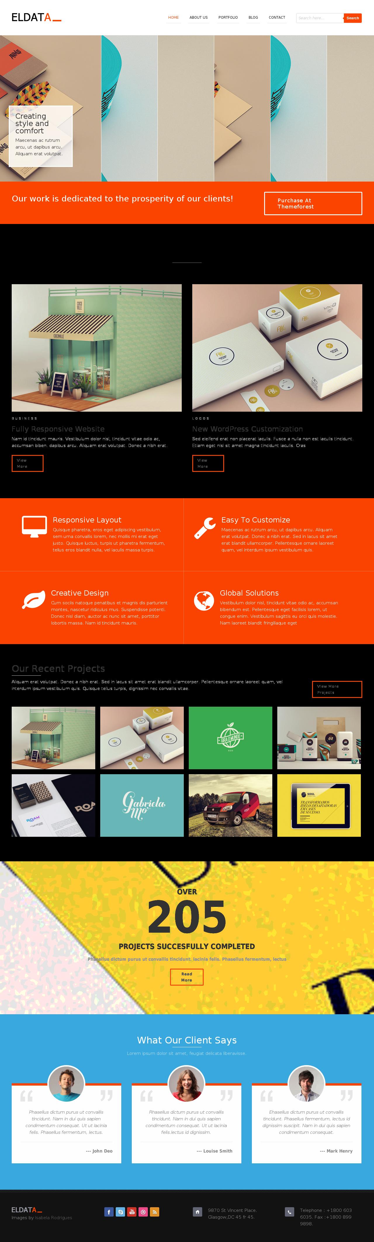 eldata responsive html template