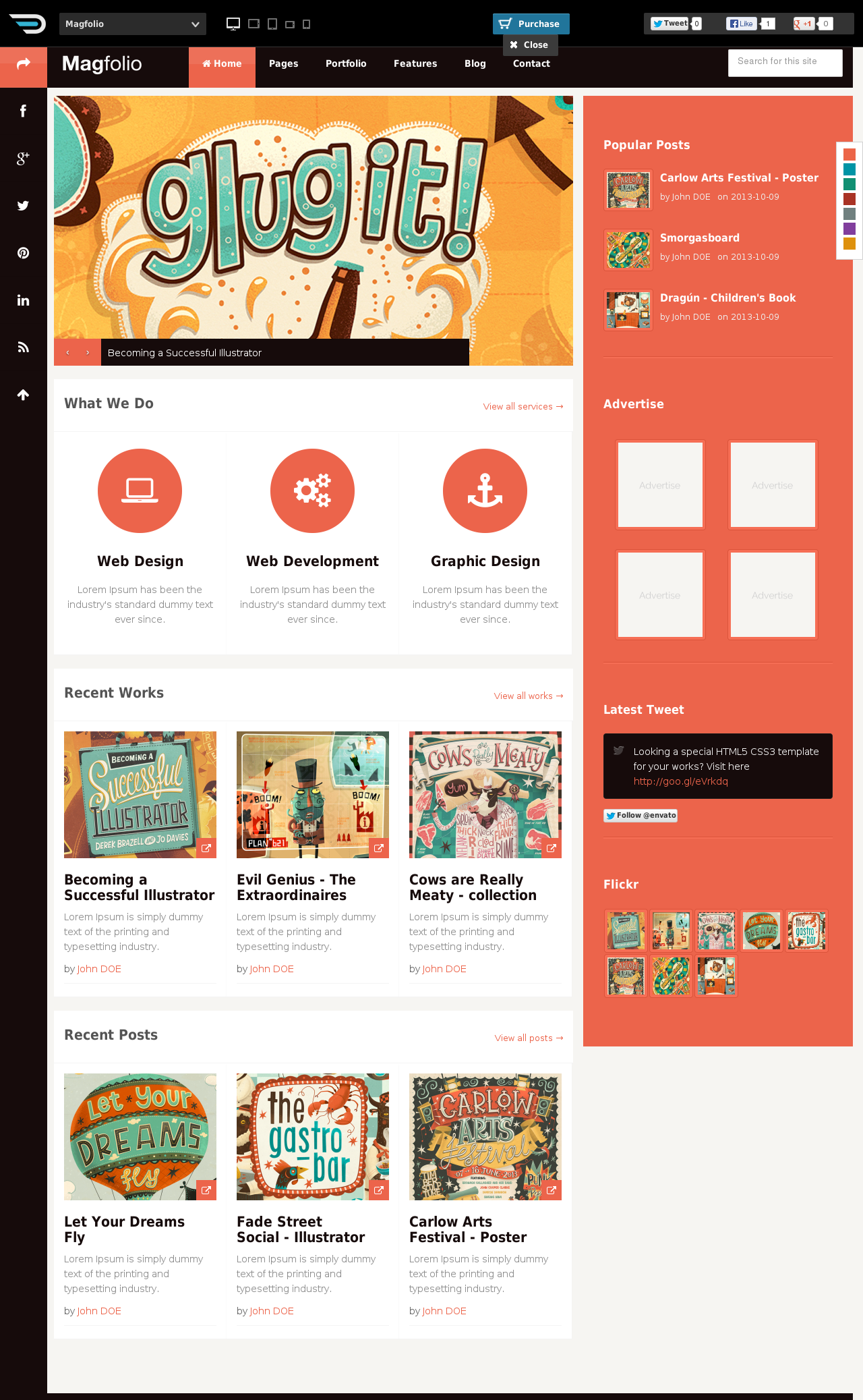 magfolio website templates