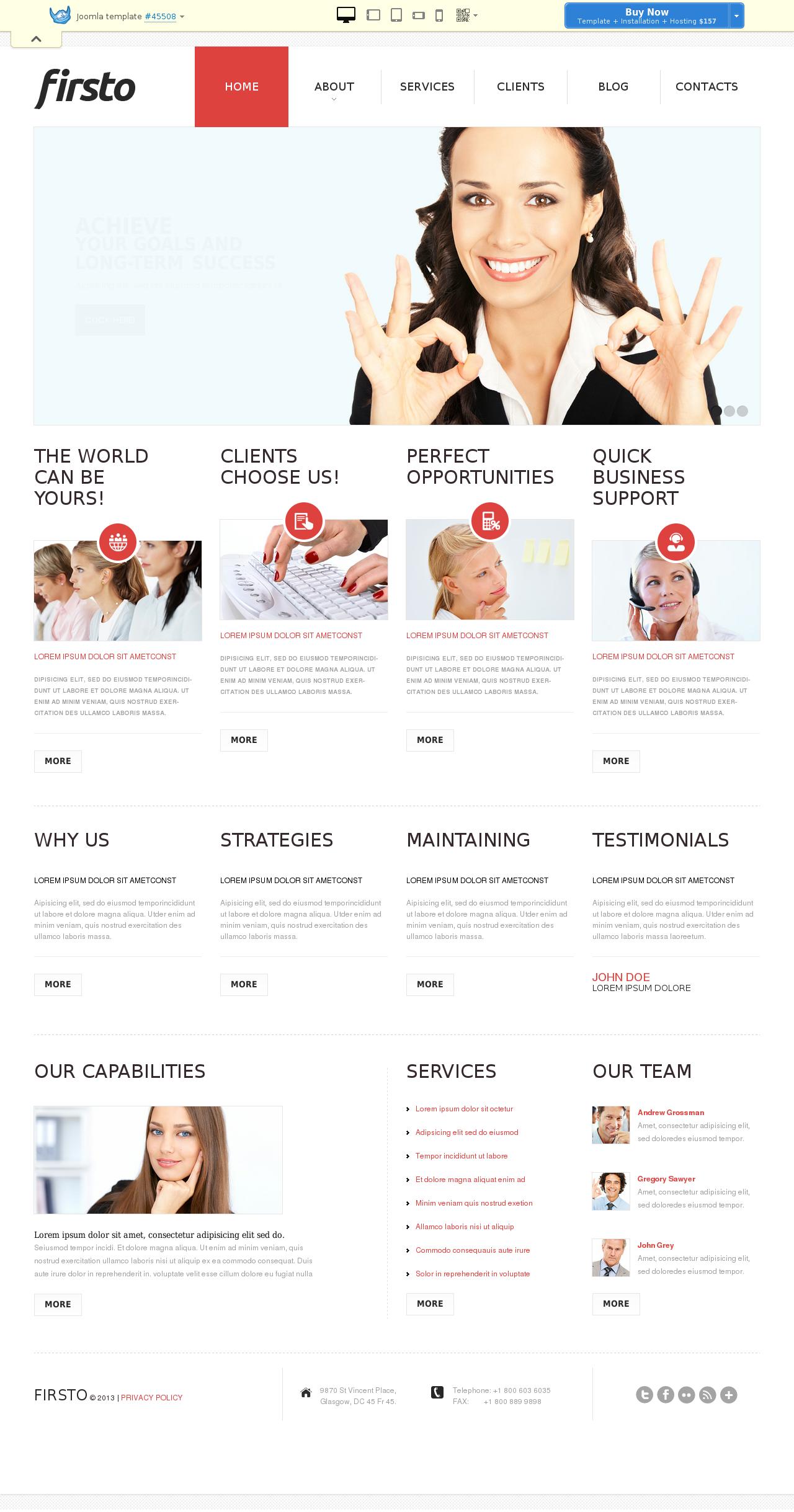 Business Strategies Joomla Template #45508