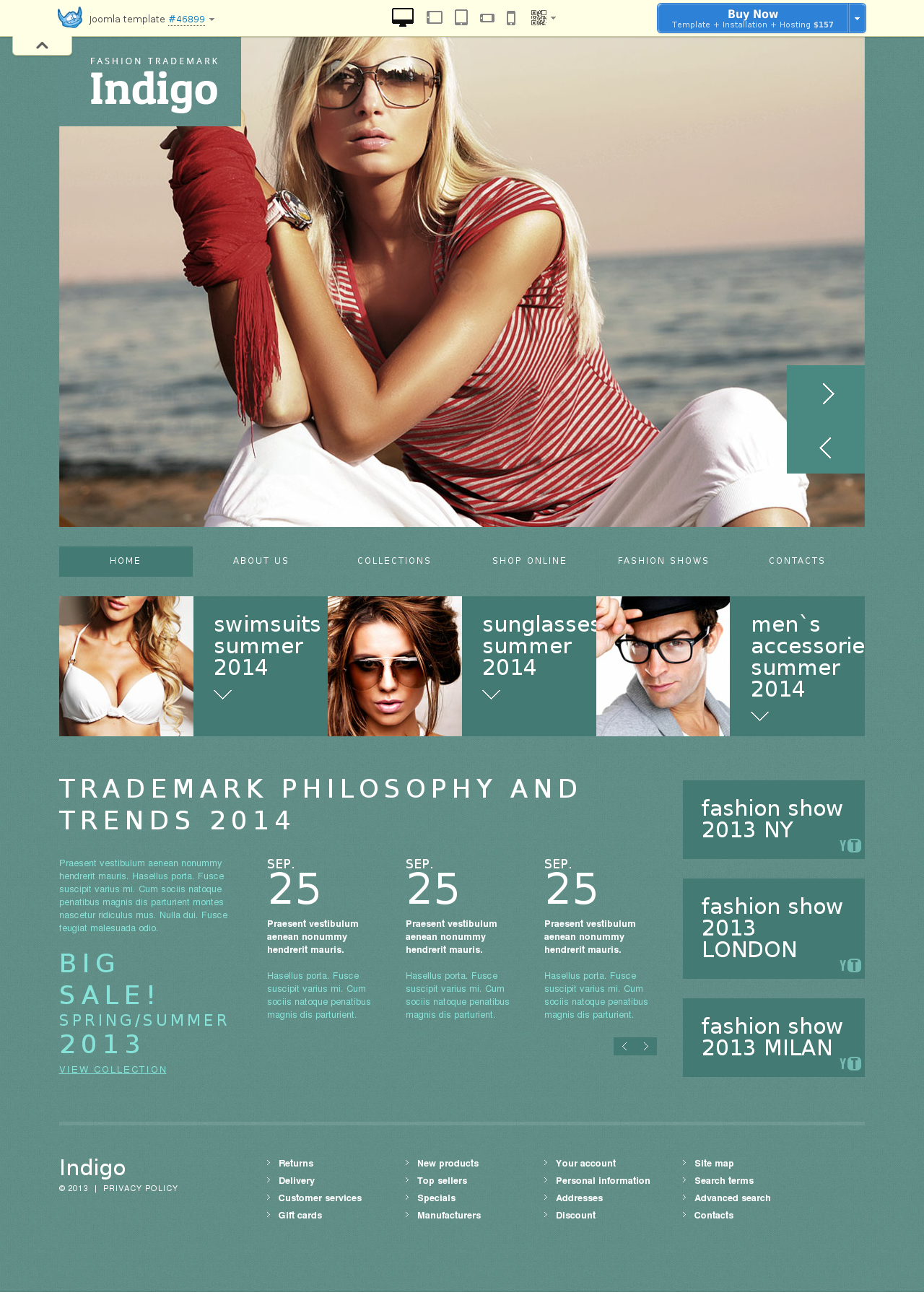 Fashionable Blog Design Joomla Template #46899
